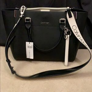 Calvin Klein black leather bag.